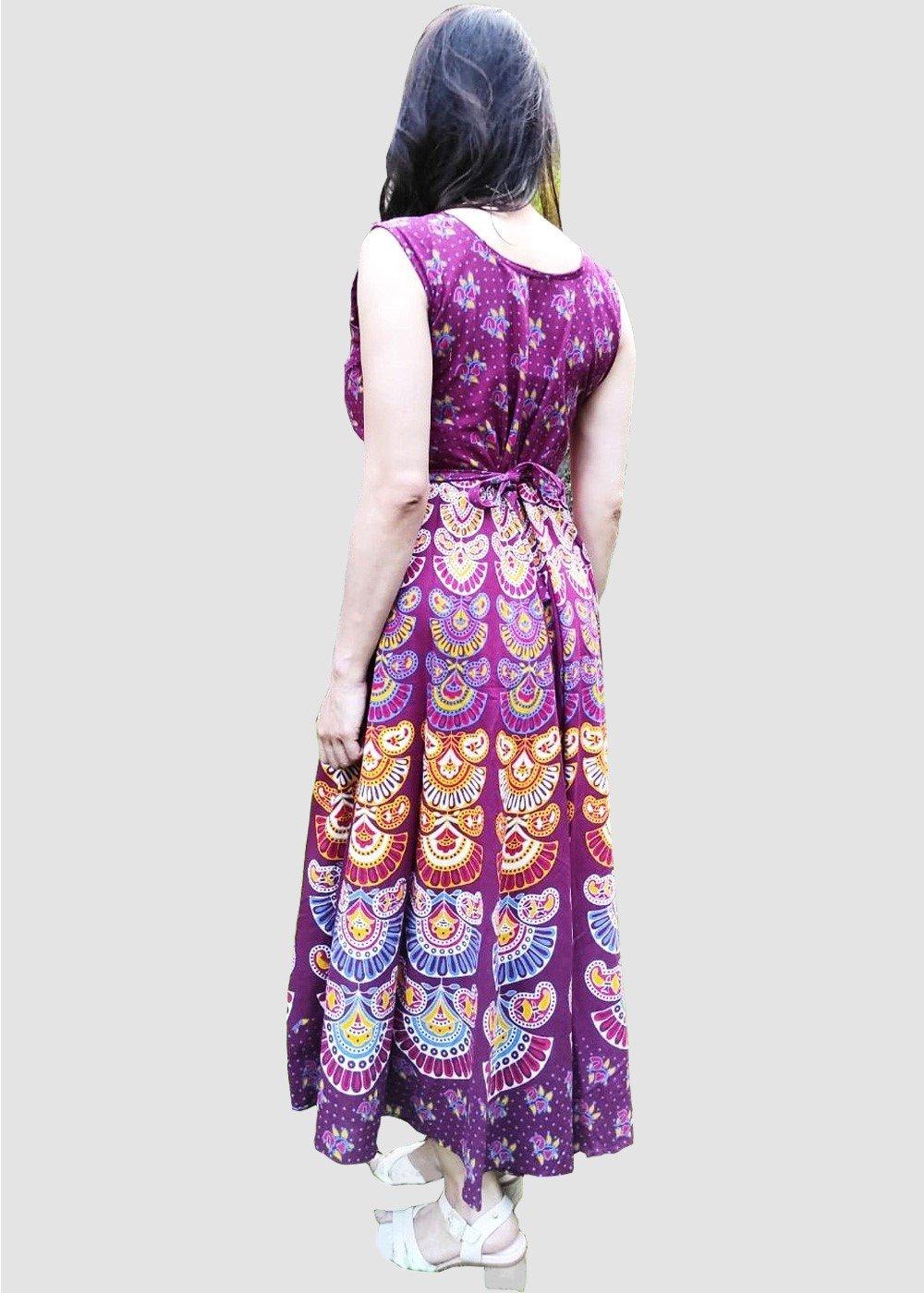 Hand block Printed Maxi Dress