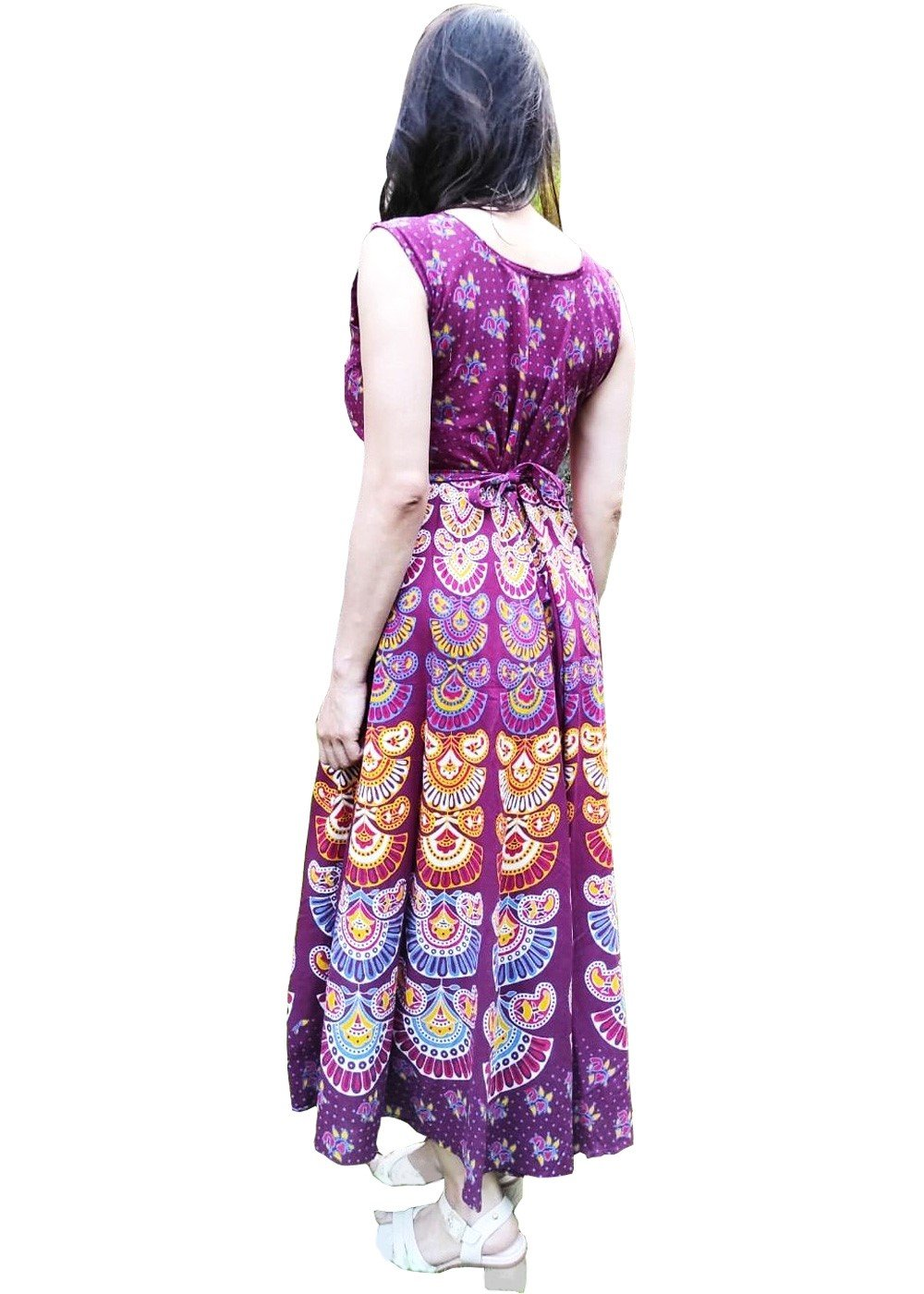 Hand block Printed Maxi Dress