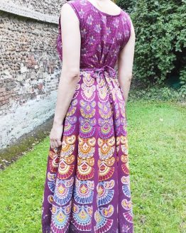 Hand block Printed Maxi Sun Dress