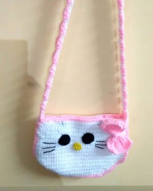 Crochet Hello Kitty Sling Purse