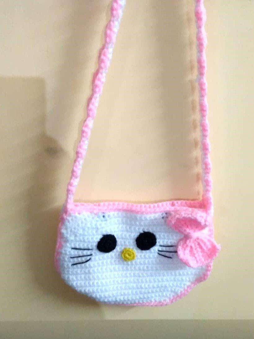 Crochet Hello Kitty Sling Purse
