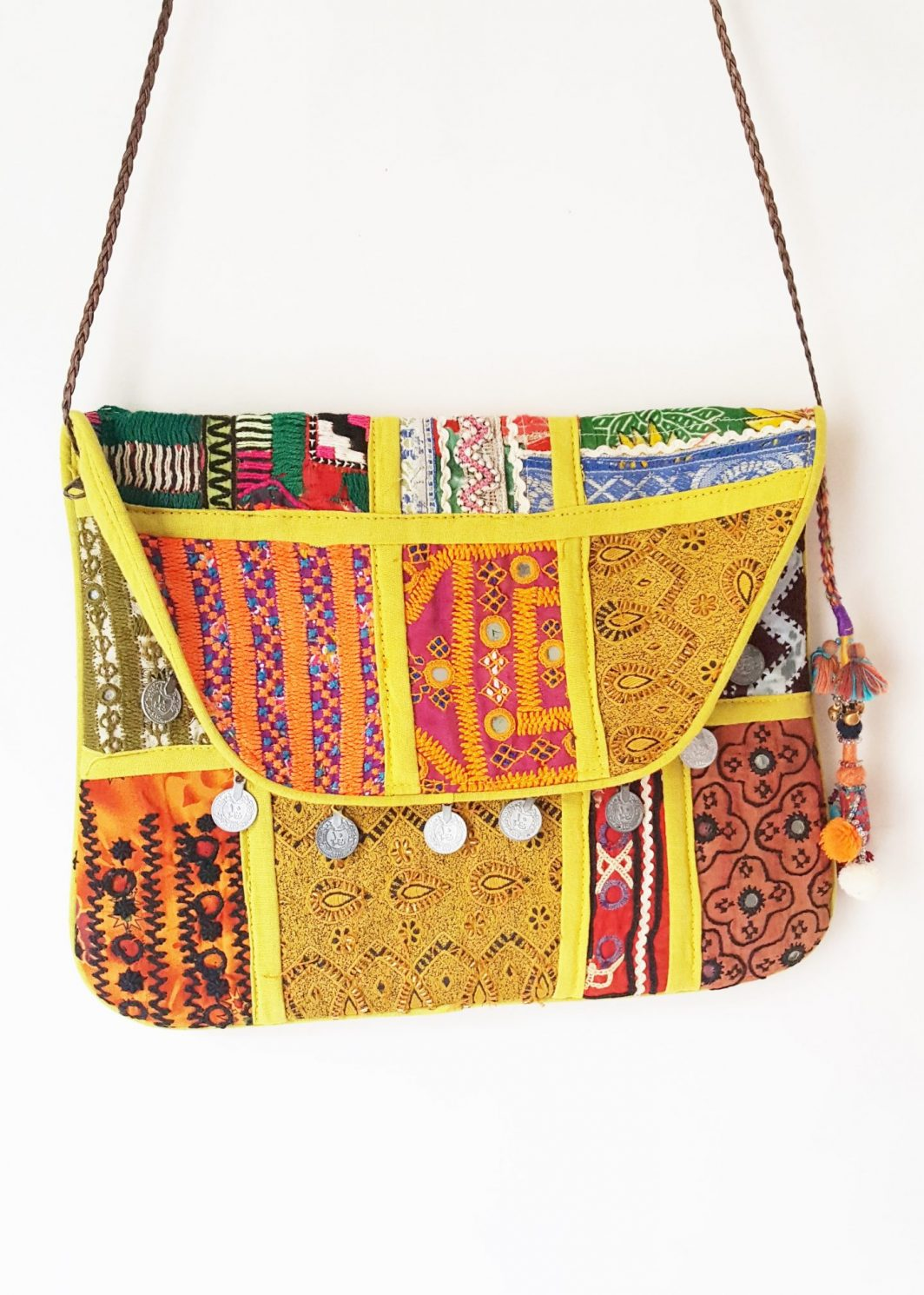 MULTICOLOURED FLAP BAG