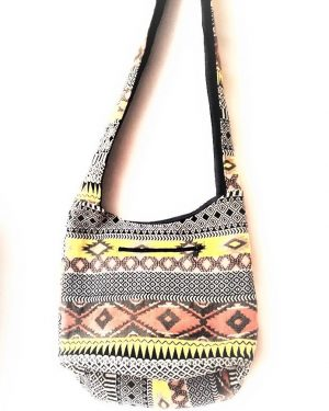 MULTIPRINT COTTON SHOULDER BAG