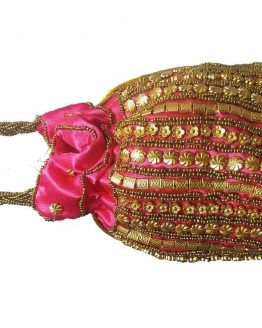 Pink Pouch Bag Silk