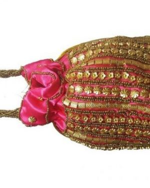 Pink Pouch Bag Silk
