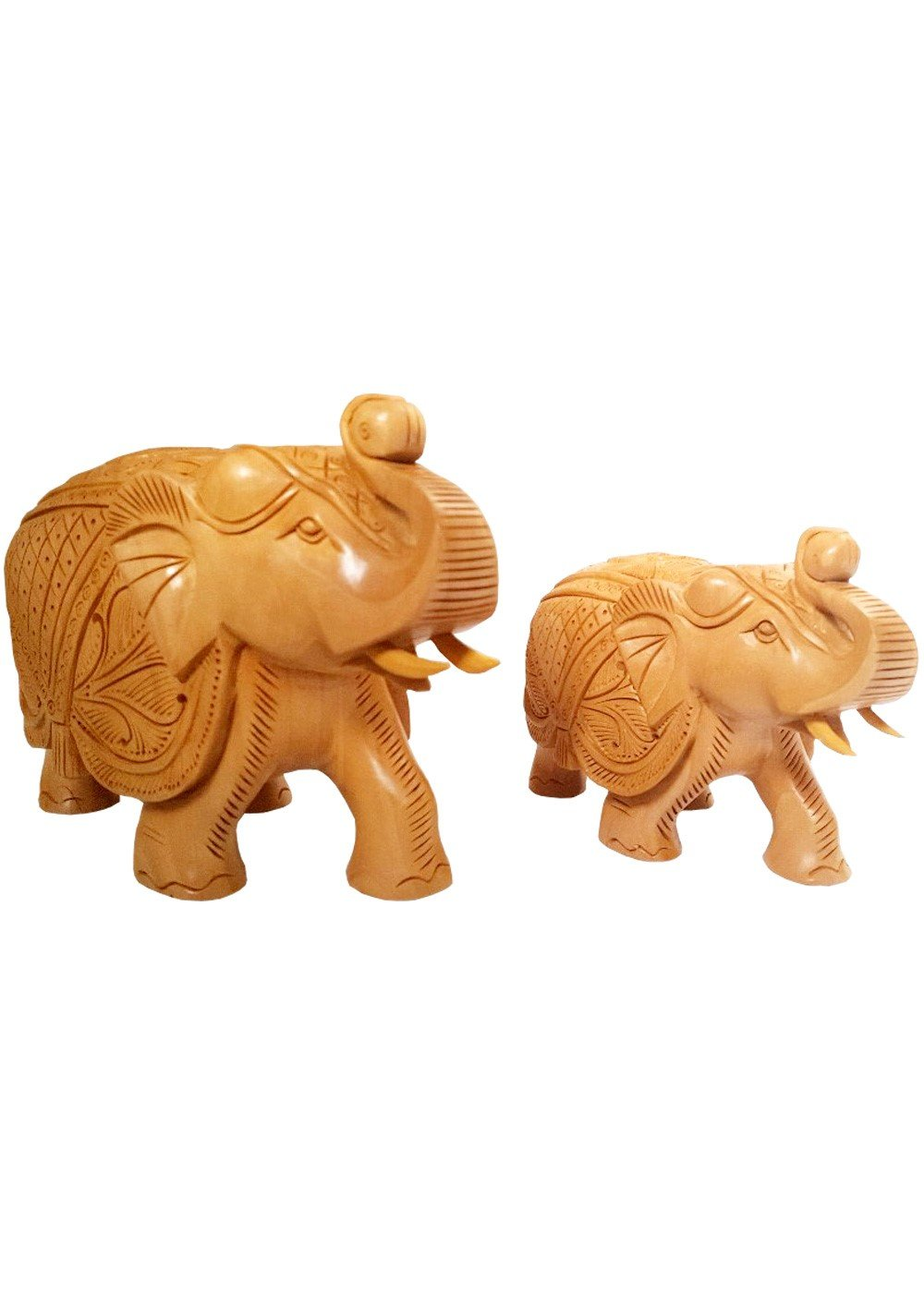 Wooden Handcarved Elephant 3 & 4 inches