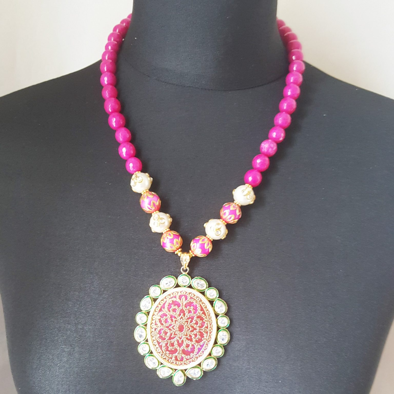 Handcrafted Thewa Art Necklace