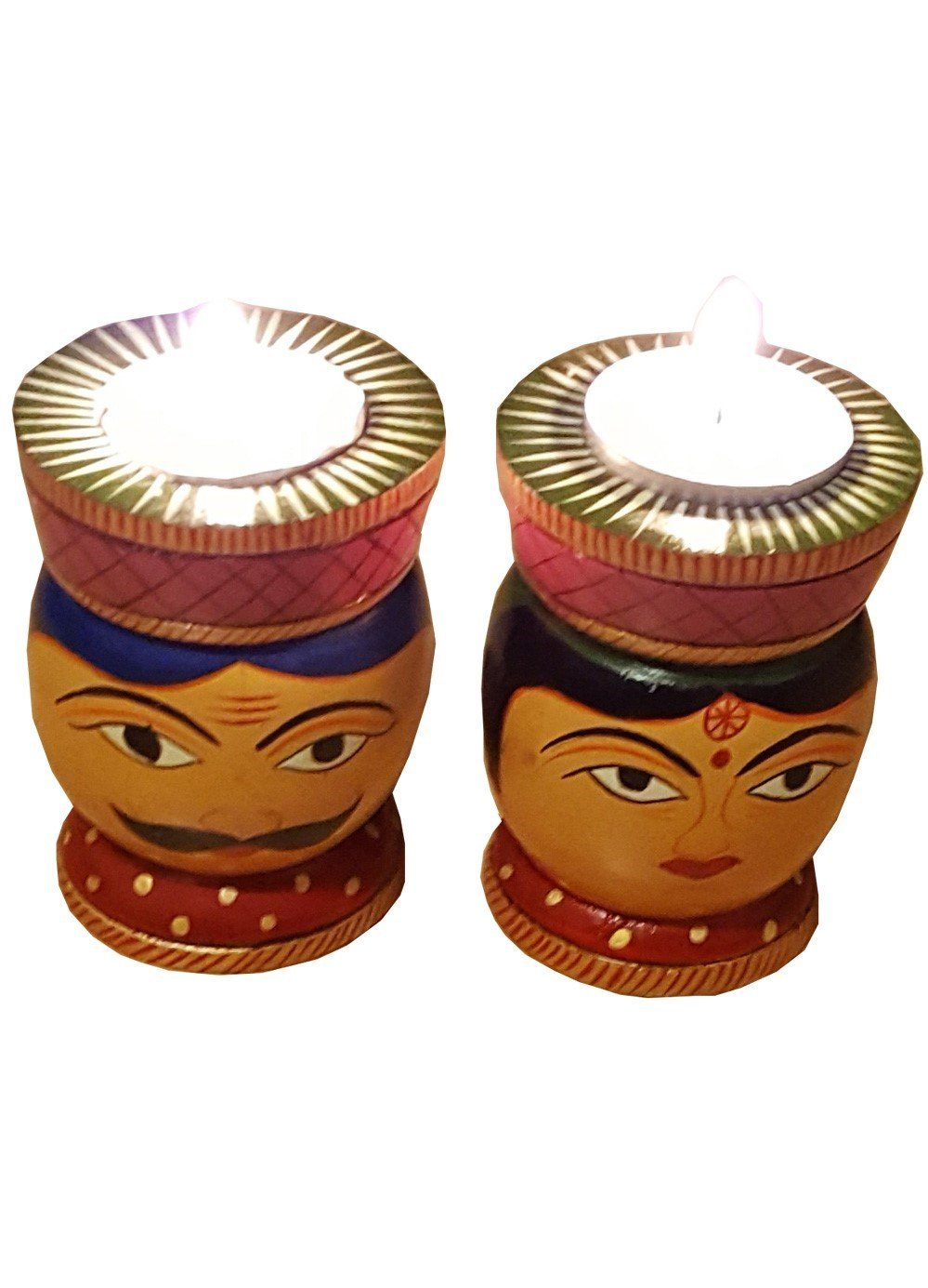 Hand Carved Wooden Tealight Holders