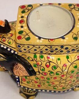 Clay Elephant Tea-light holder