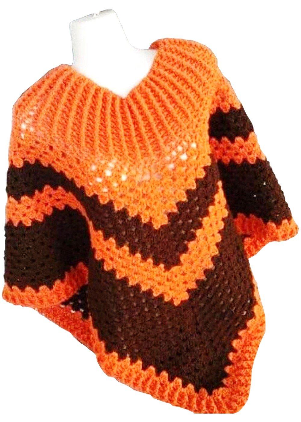 Hand Crochet Woollen Women's Poncho