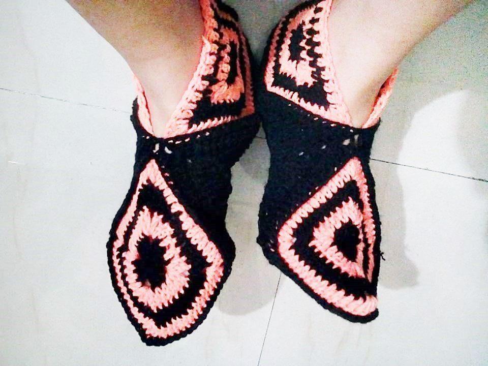 Crochet Woollen Socks