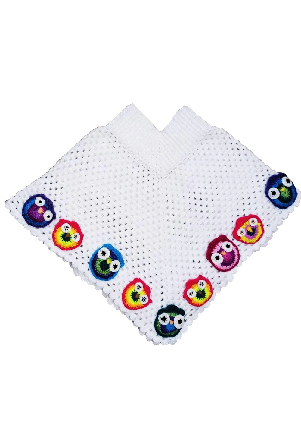 Hand crocheted Girls Poncho