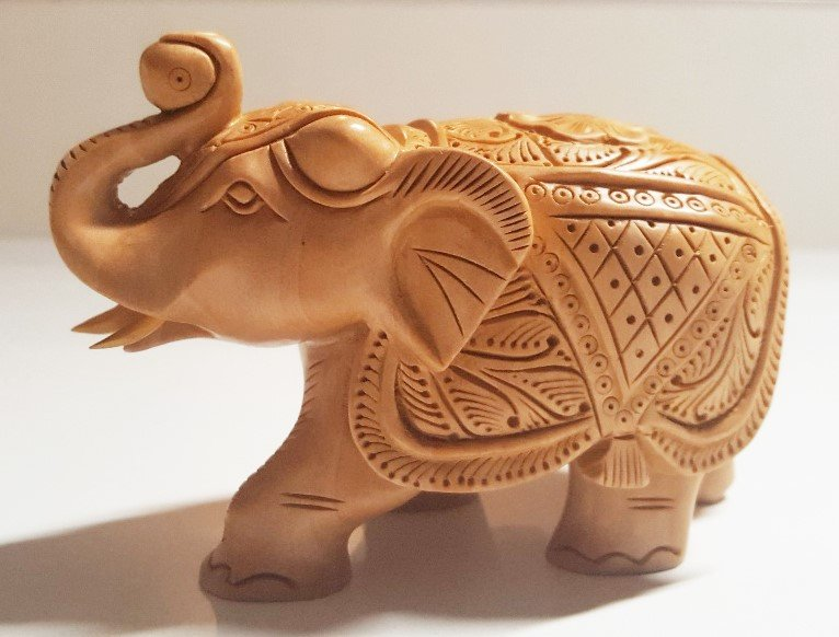 Wooden Handcarved Elephant 4 inches