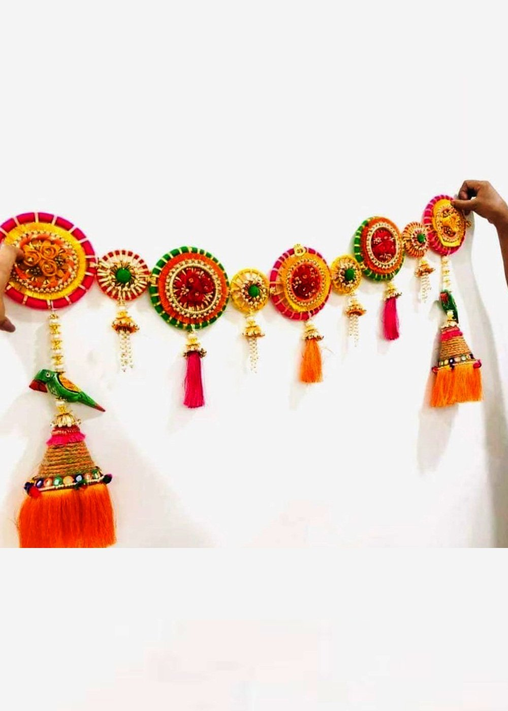 HANDCRAFTED COLOURFUL DOOR HANGING BANDANWAR