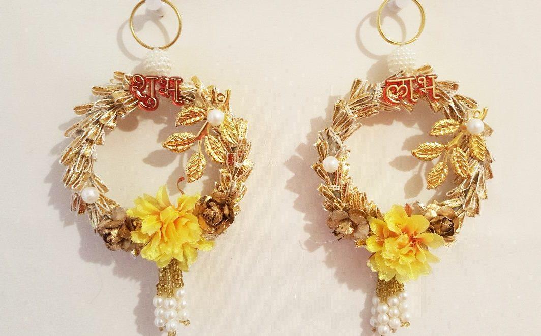 Yellow Shubh Labh Decoration