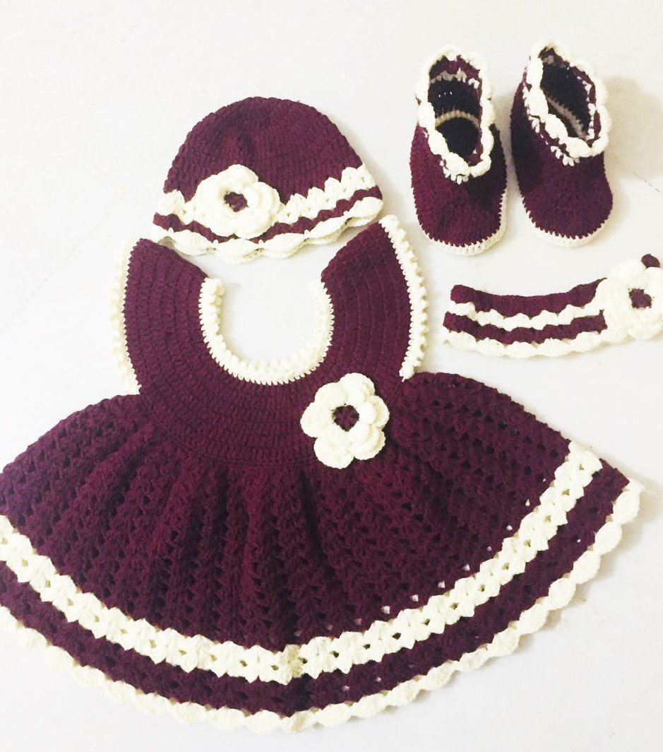 Handcrocheted baby Girl dress