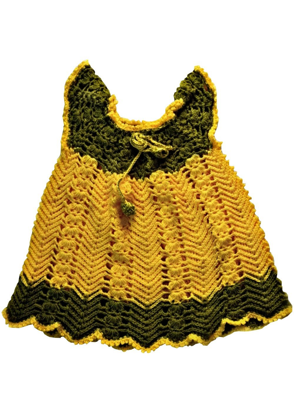 Hand crocheted baby Girl dress