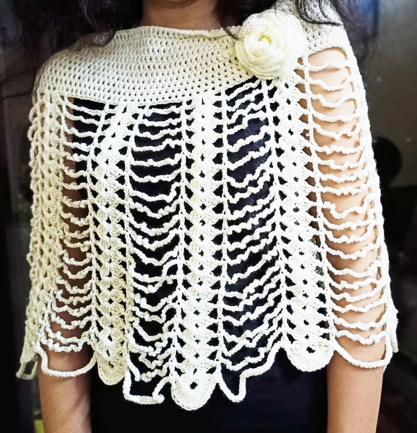 Hand Crocheted Capelet