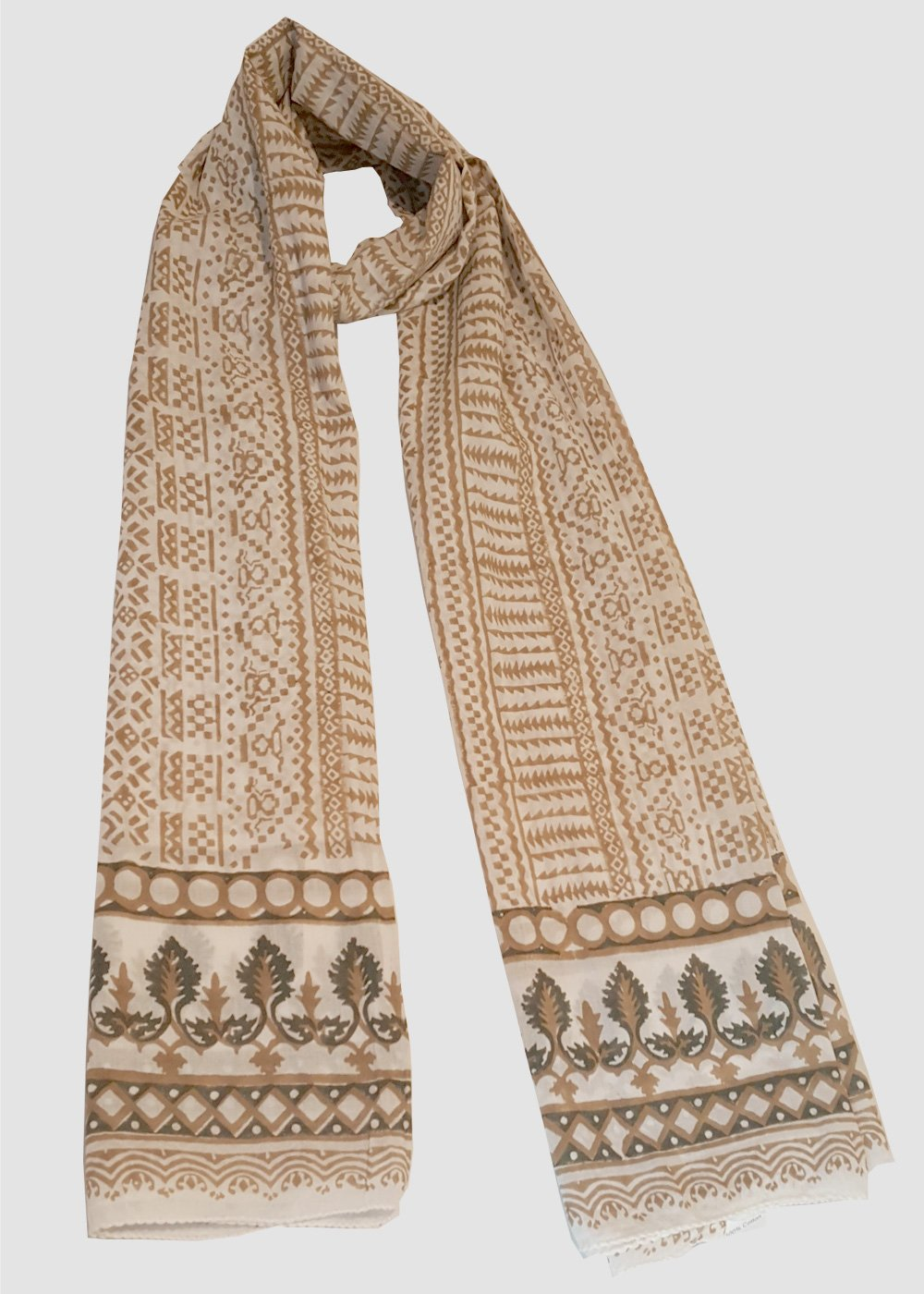 Christmas tree print scarf