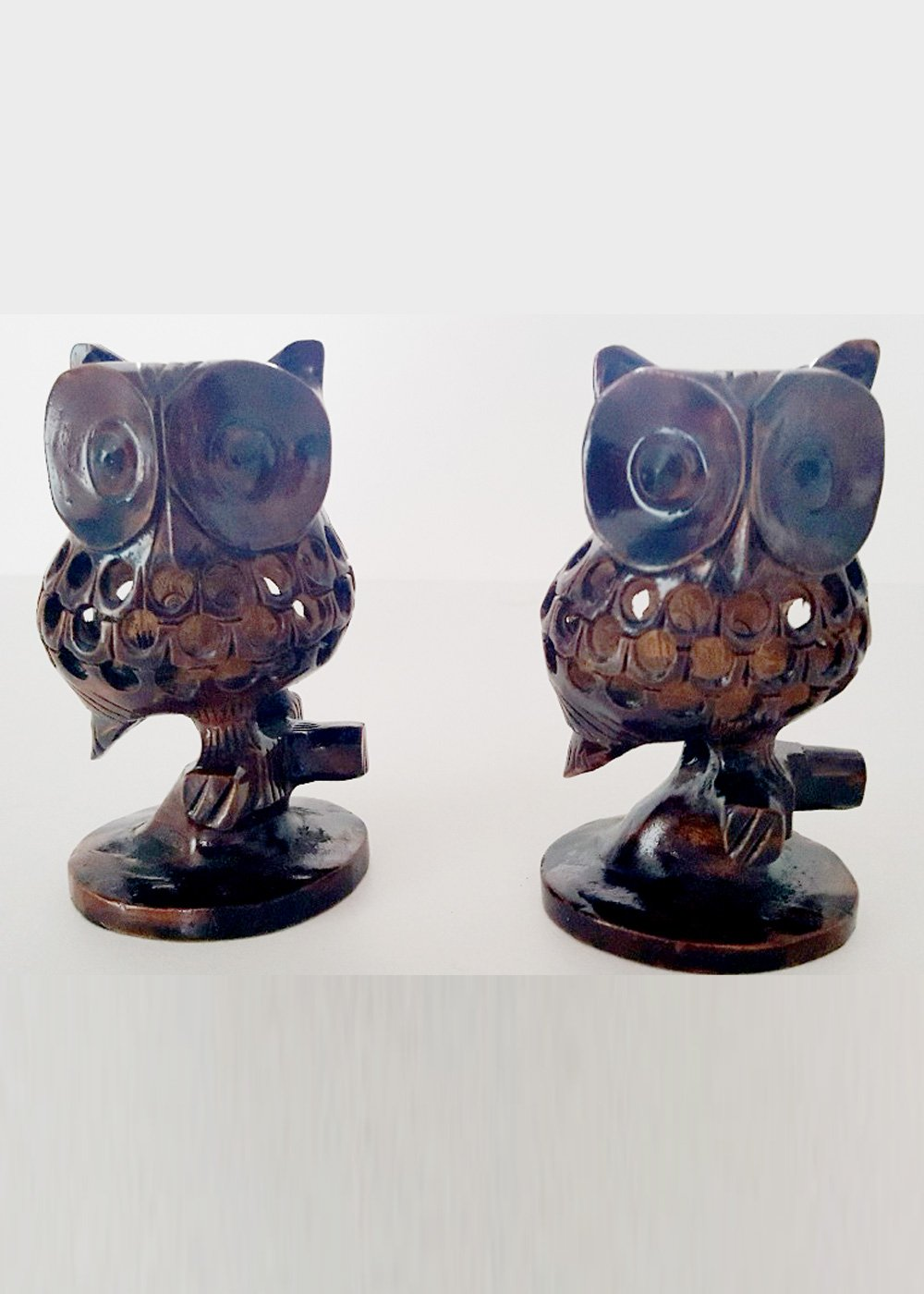 Hand Carved Wooden Tree Owl