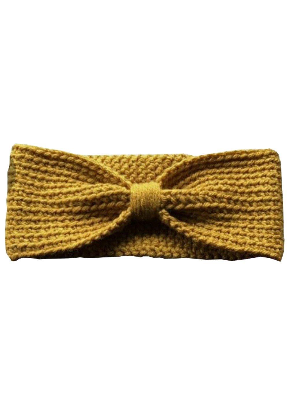 Hand Crochet Mustard Headband