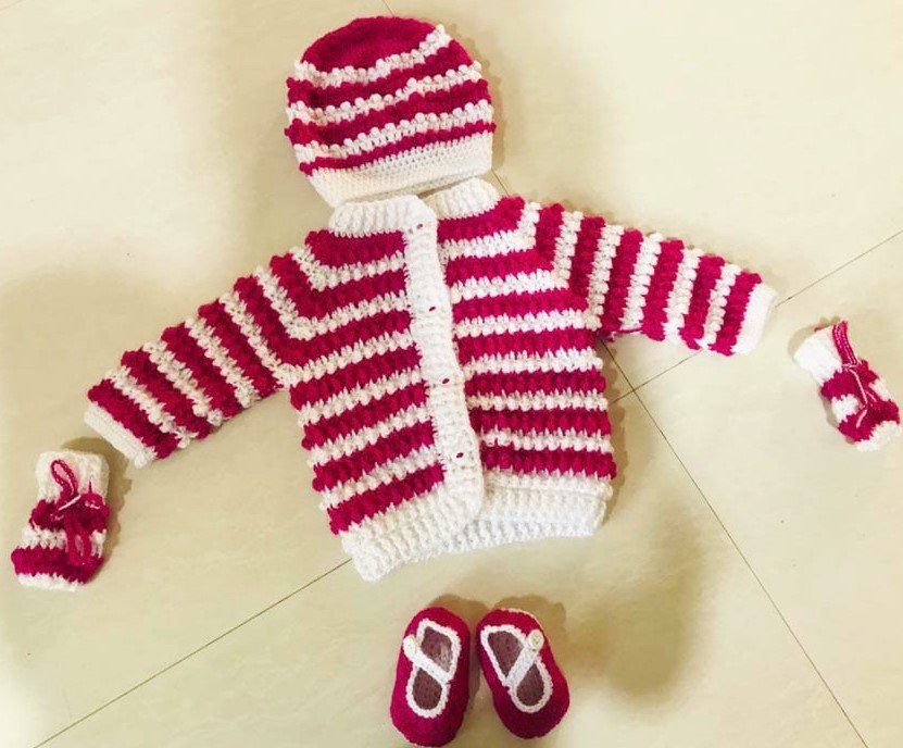 Hand Crochet Mini Cosy Cardigan