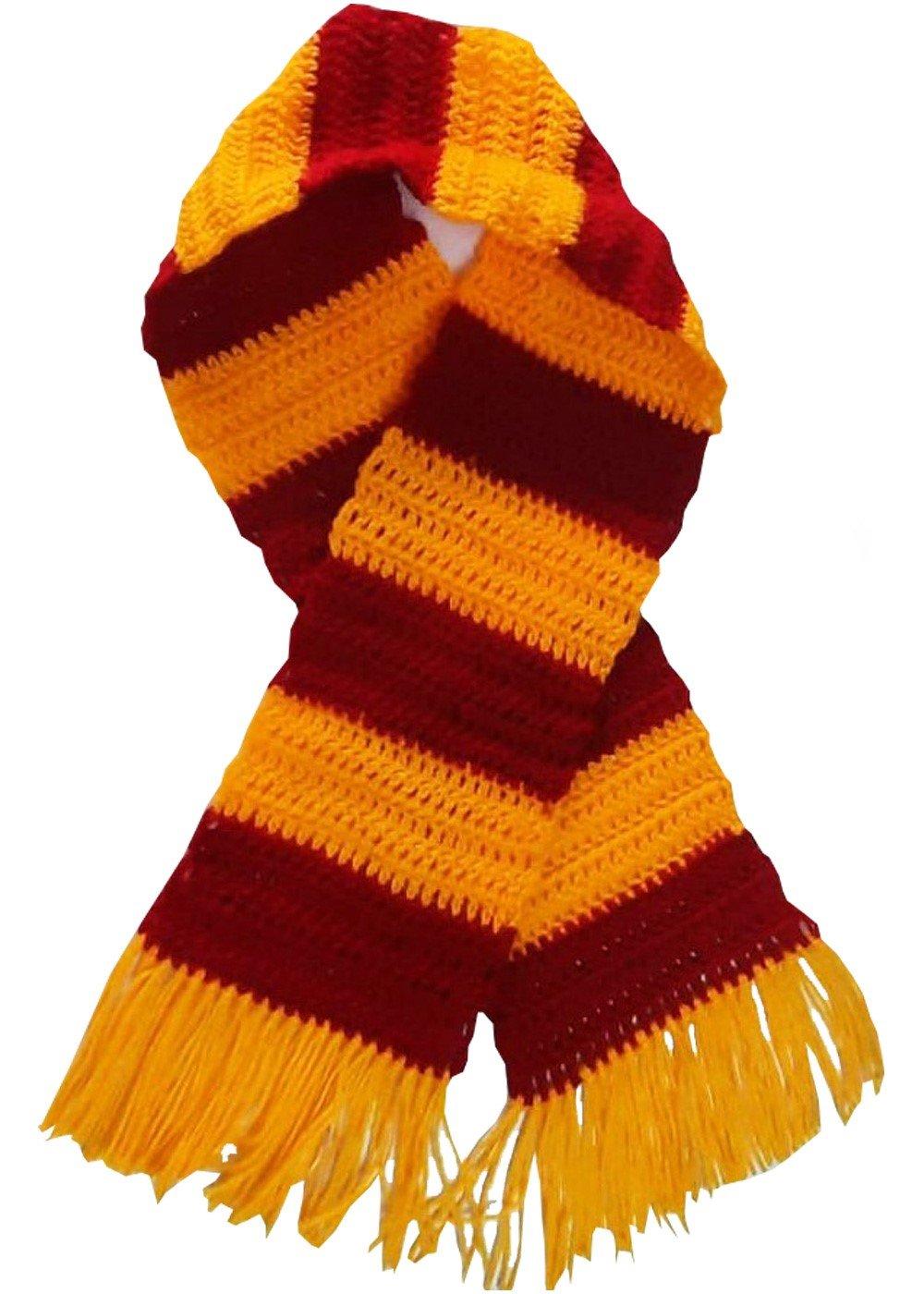 Hand Crochet boys Scarf Hogwart Gryffindor