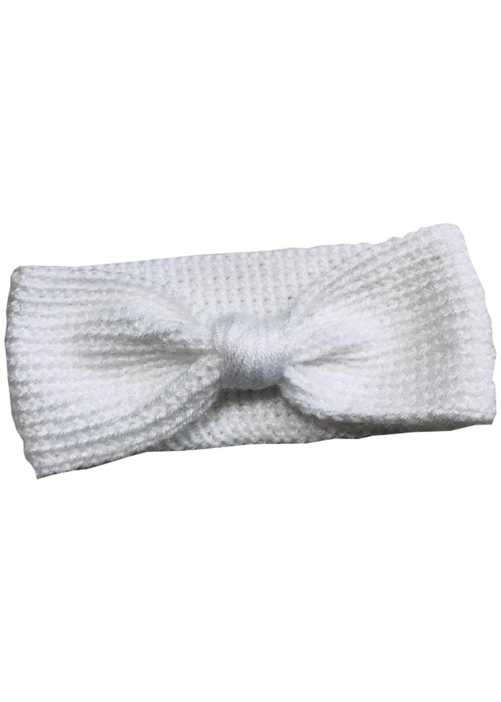 Hand Crochet White Headband