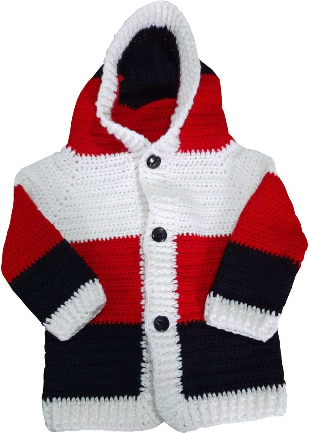 Hand Crochet Multicoloured Fleece