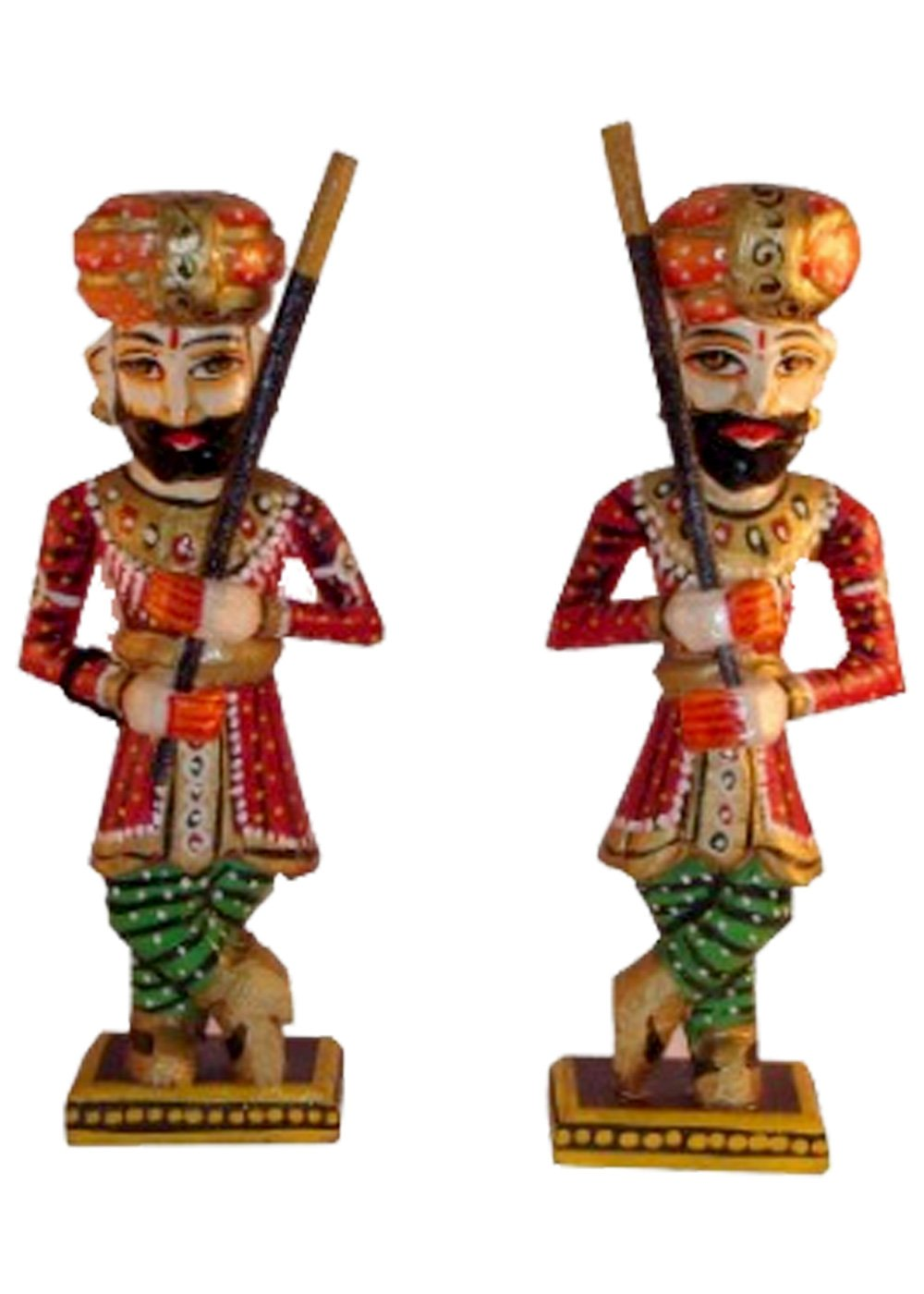 Handmade Wooden Guards Figurine Set