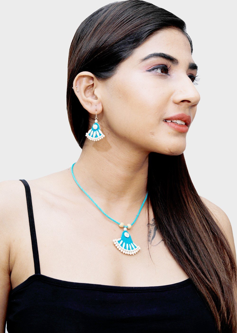 Jute Necklace Turquoise