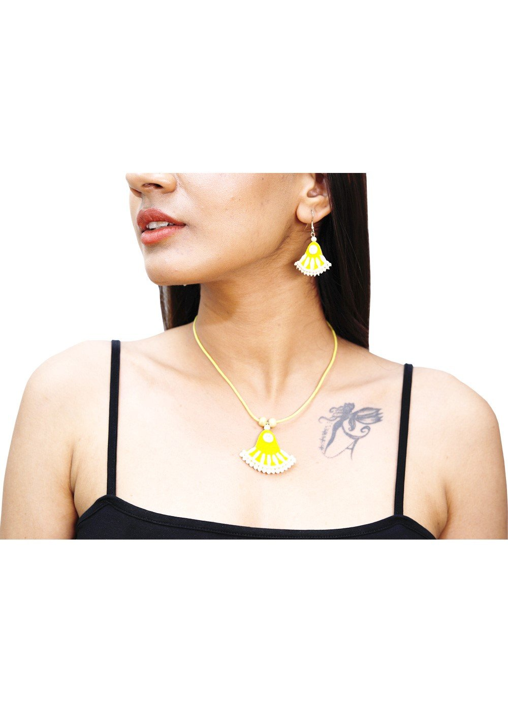 Jute Necklace Yellow