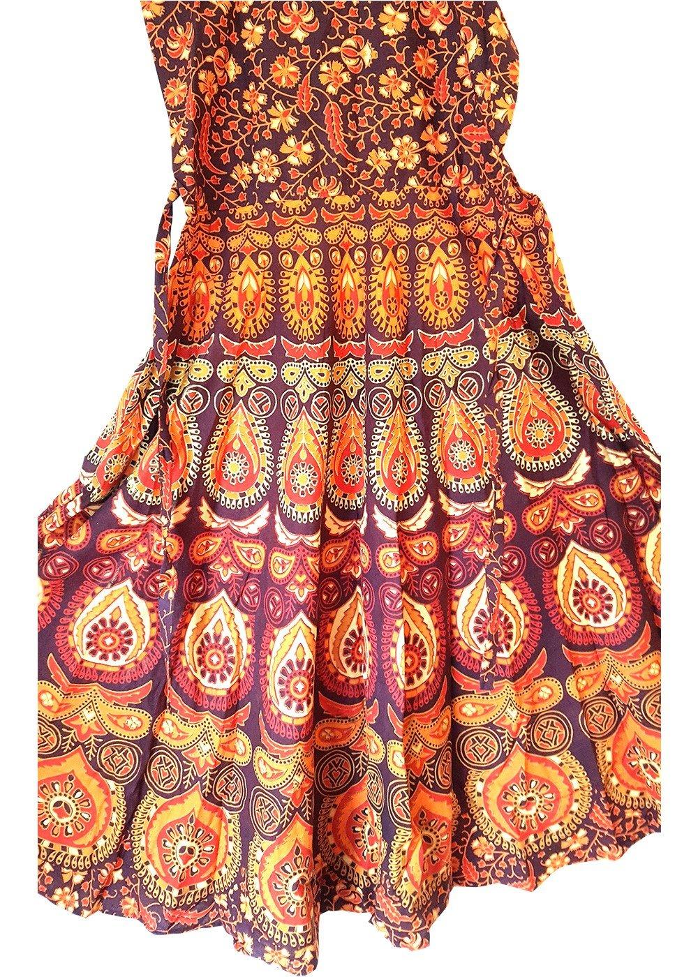 Floral Print Orange Maxi Dress