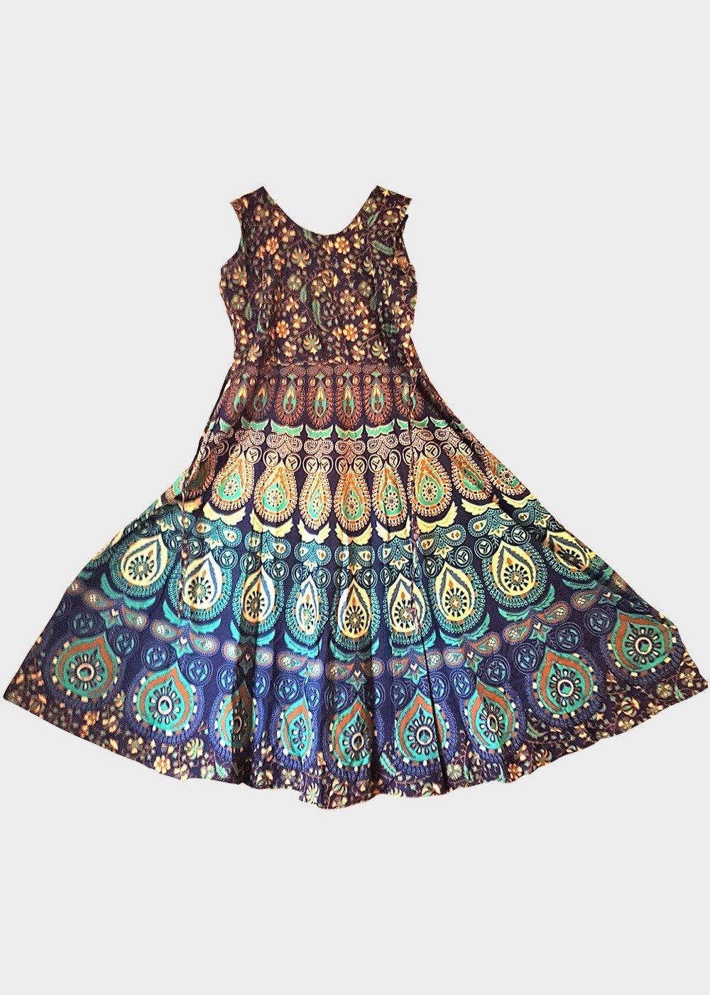 Mandala Print Midi Dress