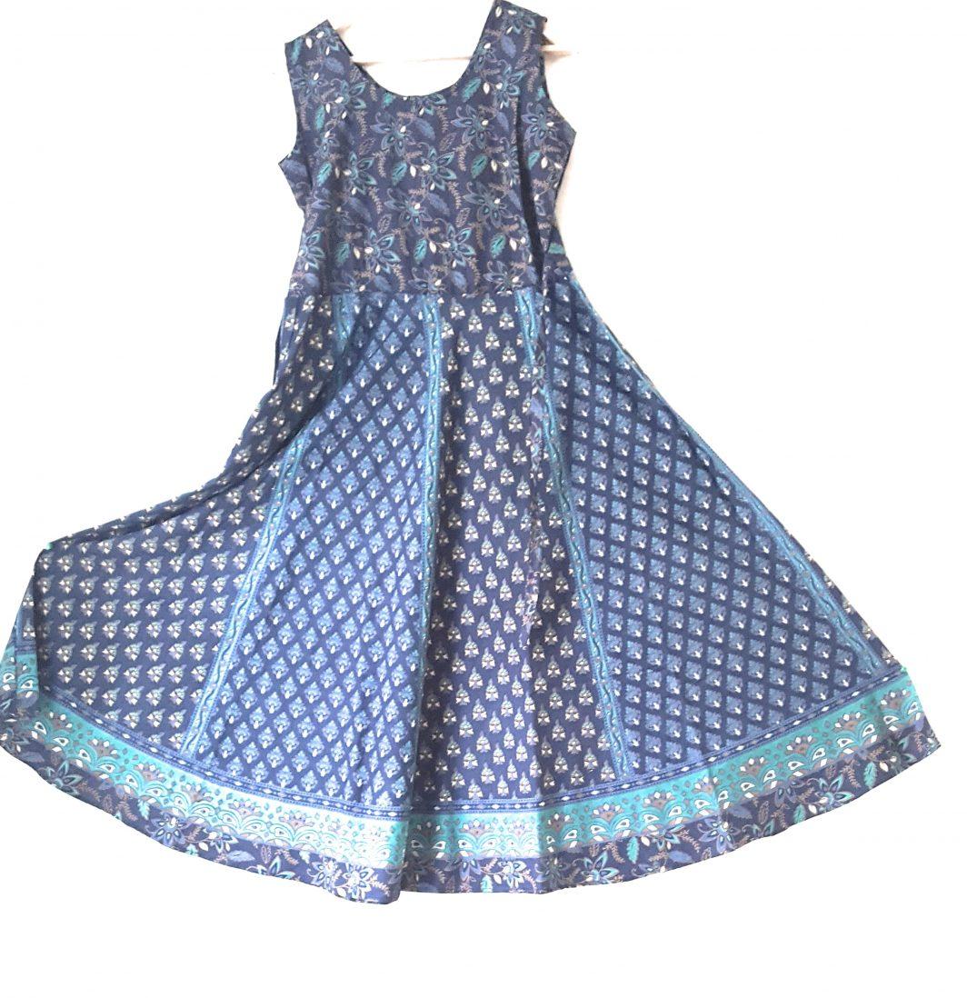 Handmade Blue Midi Dress