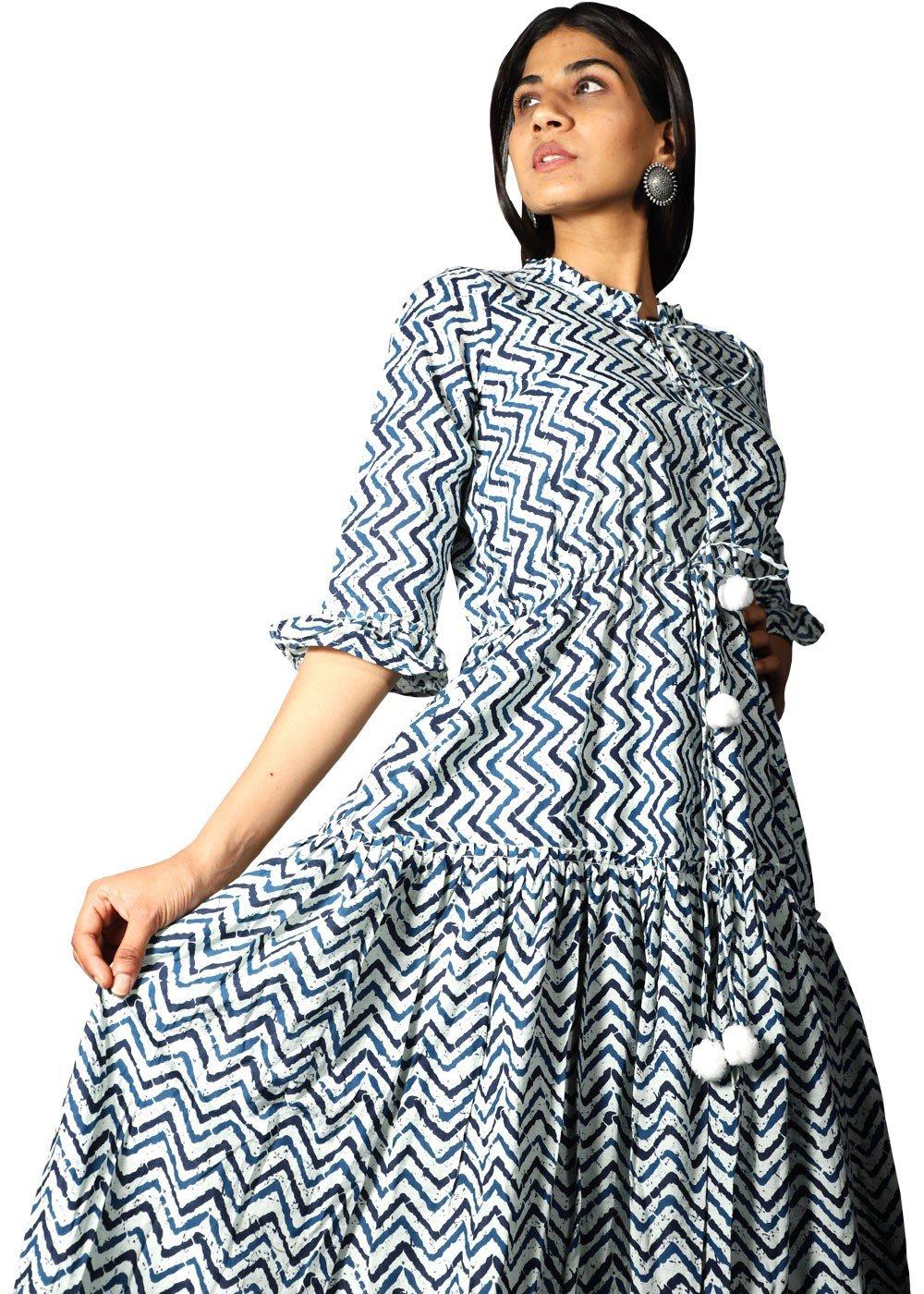 Zig Zag Blue Dress