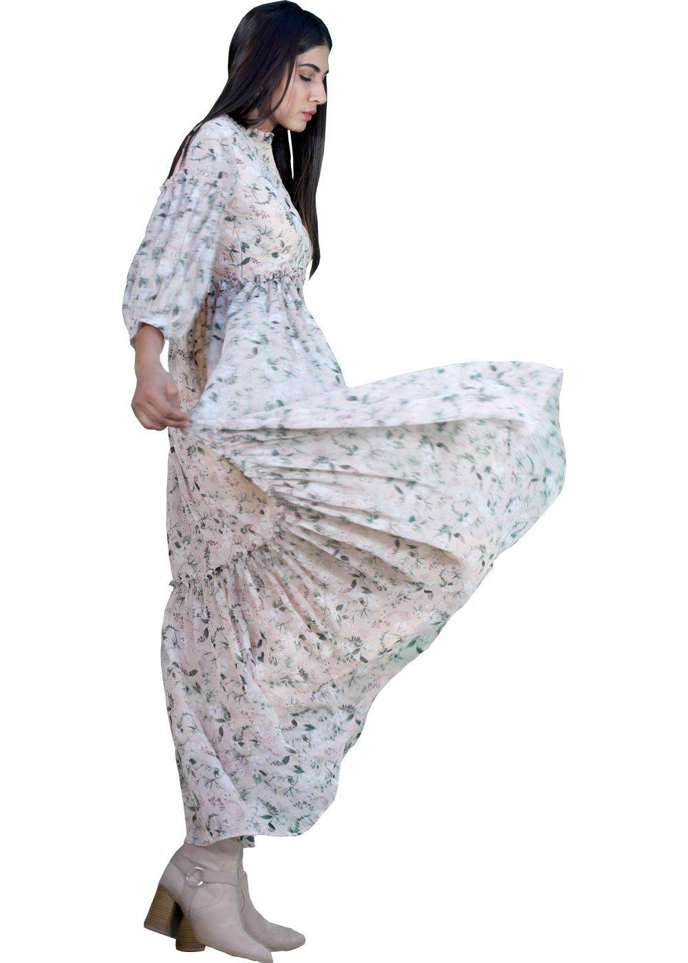 Bohemian Maxi dress Chiffon