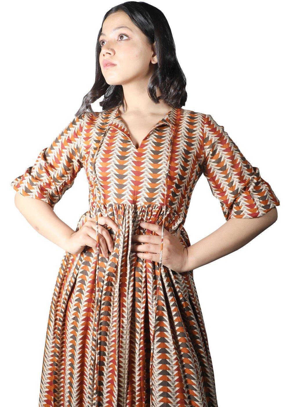 Expresso Bohemian Long Dress